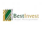 Investitionen, Geld, Bank, Finanzen, Rechnungswesen, Broker, Vermögens, Gewinne, Logo