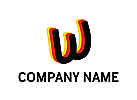 Buchstaben W, Flagge, Deutsch, Logo