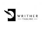 Schriftsteller, Kugelschreiber, Bleistift, Tinte, Logo