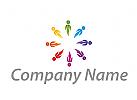 Zeichen, Zeichnung, Viele Menschen, Menschen, Team, Gruppe, Logo
