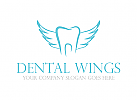 Zahn, Zahnarzt, Flügel, Engel, Logo