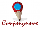 Karten-Pin in Stift-Optik, geeignet für Branchen, die mit Schreiben, Lernen oder Kreativität zu tun haben.