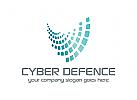 Cyber, Sicherheit, Internet, Daten, Technologie, Logo