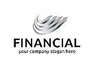 Finanzen, Börse, Markt, Pfeil Logo
