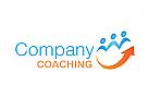 Zeichen, Signet, Logo, Menschen, Pfeil, Coaching