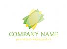 Logo Kosmetik, Blume, Blatt, Natur