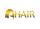 Logo Friseur, Haar, Dame