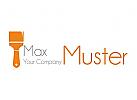 Maler Logo mit Pinsel