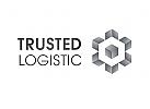 Zeichen, Signet, Logo, Cube, Logistik, Transport, Abstrakt, Würfel