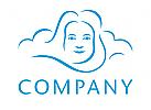 Wolken Gesicht Logo