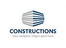 Logo Konstruktion, Bau, Architektur, Geb�ude, Immobilien