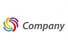 Regenbogen, Druckerei, Maler Logo