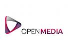 Medien, Marketing, Spiel Logo