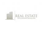 Immobilien, Makler, Bau, Logo