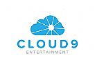 Unterhaltung, wolke logo
