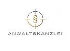 §, Zeichen, Signet, Logo, Rechtsanwalt / Anwaltskanzlei, Waage / Fadenkreuz