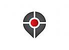 Zeichen, Signet, Logo, Pin / Zielscheibe