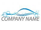 Waschanlage, Autopflege, Auto, Sportwagen Logo