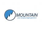 Berg, Berggipfel, Wandern, Schnee Logo