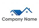 Zwei H�user, D�cher Logo
