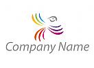 Vogel, farbig Logo