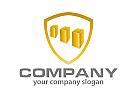 Wappen und Drei Quader Logo