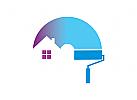 Logo Maler, Malertolle, Haus