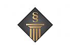 §, Zeichen, Signet, Logo, Rechtsanwalt, Säule