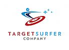 Zeichen, Signet, Logo, Mensch, Surfer, Zielscheibe, SEO