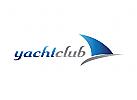 Logo Jacht, Schiff, Segeln
