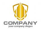Wappen, Hochhaus, Skyline, Finanzen Logo