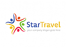 Menschen, Tourismus, Sterne, Reiseagentur Logo
