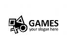 Videospiele, Unterhaltung, Joystick Logo