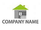 Haus und Ziegelsteine Logo