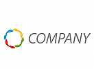 Zeichen, Zeichnung, Vier Farben, Vision, Technologie, Logo