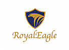 vogel, adler, schild logo