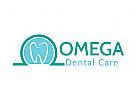 Zähne Logo, Zahnarzt, Arzt, Omega