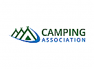 Camping, Wandern Logo, Tourismus, Reisen