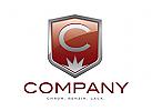 Logo Autohandel, Werkstatt, Oldtimer Emblem Chrom mit Initial