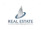 Immobilien, Architektur Logo