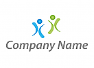 Zwei Personen, Menschen Logo