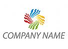 Wellen, Spiralen farbig Logo
