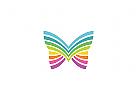 Schmetterling, bunt, Colorful Butterfly Logo