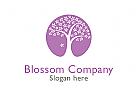 Logo Baum, Bl�ten