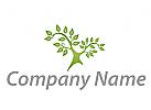 Baum, Pflanze Logo