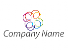 Kreise, farbig Logo