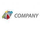 Kugel, Kreis, farbig Logo