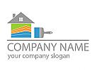 Haus, farbig Logo