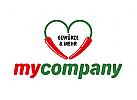 Logo Food, Restaurant, Gew�rze, Chilis herzf�rmig
