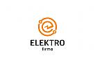 Strom, Buchstabe E, Installation, Elektrik, Elektriker Logo